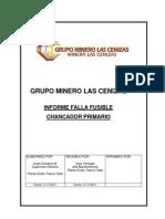 Informe Falla Fusible Chancador Primario
