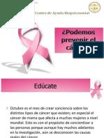 Podemos prevenir el cáncer