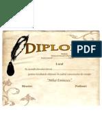Diploma Locul 1,2,3