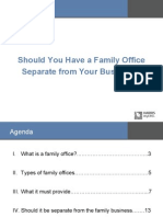 Family Office Separate From Business
