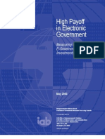 High Payoff in Electronic Government