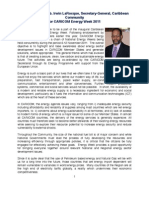 Statement From the Secretary General - CARICOM Energy Week
