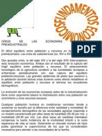 CRISIS DE LAS ECONOMÍAS PREINDUSTRIALES