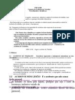 NBR-14280 (Resumo) - Cadastro de Acidentes do Trabalho Procedimento e Classificação