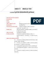 Model Proiect Didactic Inv Primar