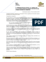 Informe de gobierno de Gabino Cué
