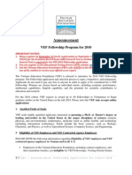 2010 VEF Fellowship Announcement_E
