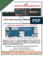 Massachusetts Celebrates Immigrant Entrepreneurship Month