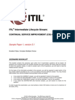 ITIL Intermediate Lifecycle CSISample1 SCENARIO BOOKLET v5.1