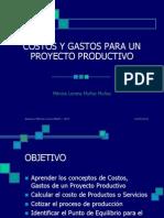 5. Costos y Gastos Para Un Proyecto Productivo