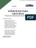 EXERCÍCIOS PARA GRÁVIDAS