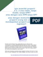 13 Strategi RAHASIA Membeli Banyak Properti Tanpa Modal Dan Tanpa KPR [www.digizoneku.com]
