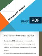 Registro de Información-informe oral