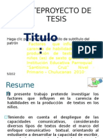 ANTEPROYECTO DE TESIS
