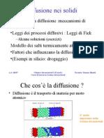 Chimica Dei Materiali I - II Modulo - Diffusione Nei Solidi