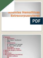 Anemias Hemolíticas Extracorpusculares