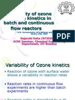Variability of Ozone Reaction Kinetics