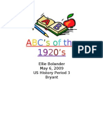 Abcs of the 1920s Title Page