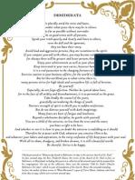 Max Ehrmann Poetry Desiderata English