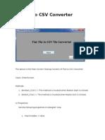 FlatFileToCSVConverter