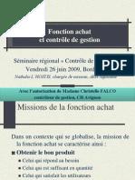 1er Seminaire CDG ARH Aquitaine Juin 2009 - Fonction Achat Et Controle de Gestion, Nathalie L'HOSTIS
