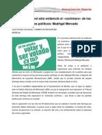 Proceso electoral sólo evidenció el cochinero de los partidos políticos, Moctezuma