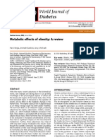 Metabolic Effects of Obesity