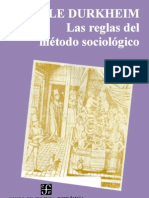 Emile Durkheim - Las Reglas Del método Sociologico