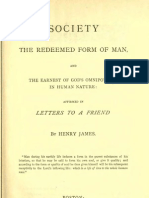 Henry James SOCIETY the Redeemed Form of MAN Boston 1879