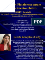 Análise - CURTY, Renata G. Web 2.0 PLataforma para o conhecimento coletivo