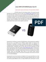 Huawei E583C Routeur Wifi VS ZTE MF60 Routeur Sans Fil