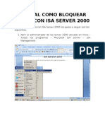 Manual de Bloqueo Sitios Web Con ISA SERVER 2000