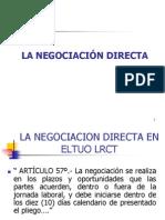 La Negociacion Directa