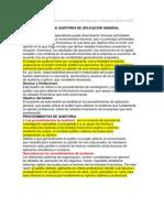 Normas y procedimientos de Auditoria y Normas para atestiguar Boletín 5010