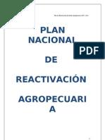 Plan Nacional de Reactivacion Agropecuaria 2008-2011