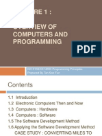 Lecture 1 Overview of Computers and Programming