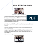 Stasi Files Implicate KGB in Pope Shooting
