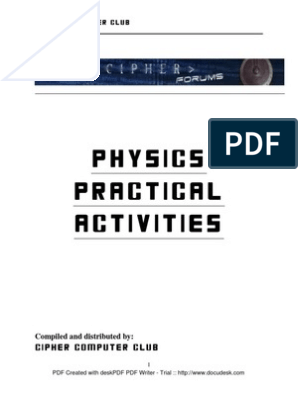 Phy Practical Activities Format   Voltage   Series And Parallel Circuits