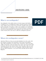BGS Earthquake Frequently Asked Questions
