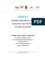 Group 1. Tourism Segmentation in Hanoi, Vietnam - July 4th 2011