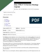 IBM Course description_ ITIL® V3 Service Strategy Certification Program - IBM Training - Canada