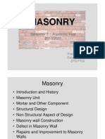 MASONRY - Property of Materials
