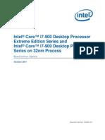 Core i7 900 Ee and Desktop Processor Series 32nm Spec Update