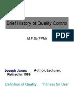 History of Quality Presentation