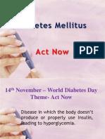 Diabetes Mellitus - An Overview