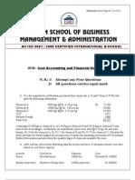 Cost & Finance Paper