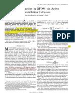 PARReductioninOFDMviaActiveConstellationExtension