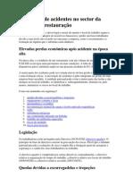 Prevenção de acidentes no sector da hotelaria e restauração