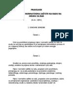 PRAVILNIK o mjerama i normativima zaštite na radu na oruđima za rad