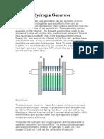 Tero Cell Hydrogen Generator